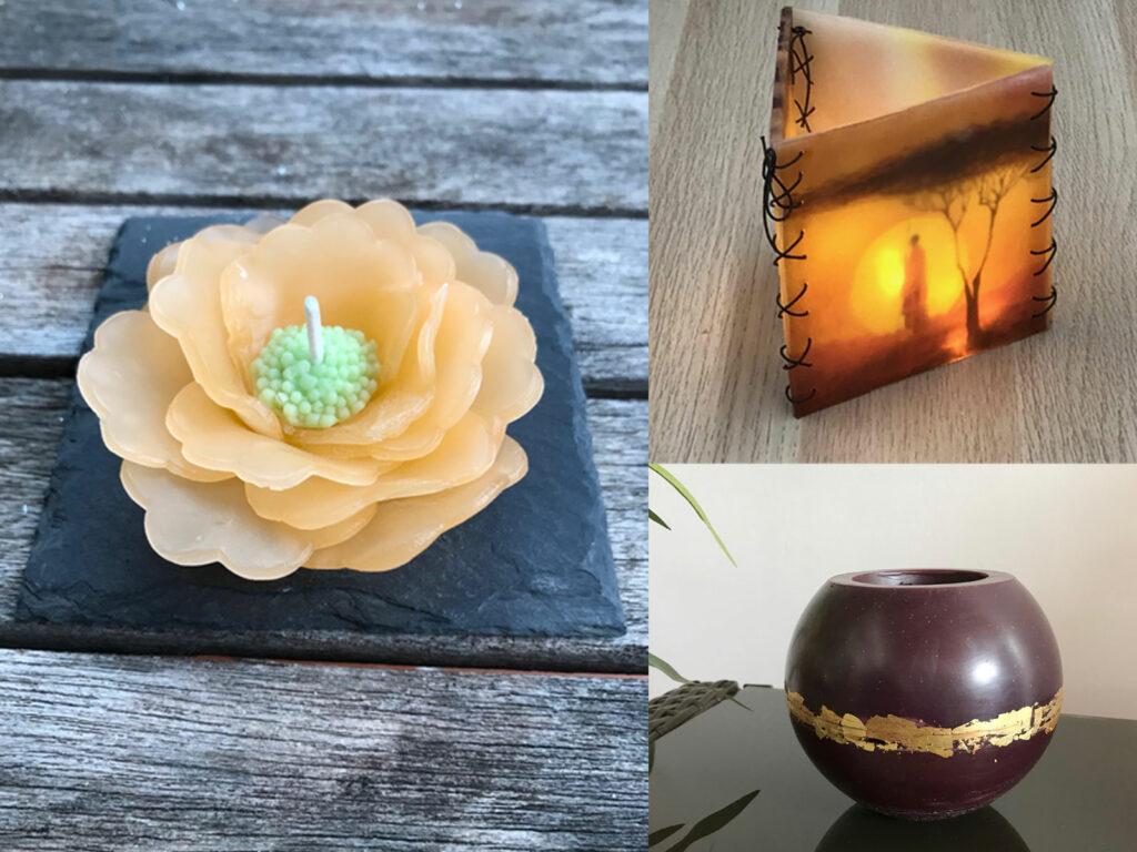 Vases et lampes en cire
