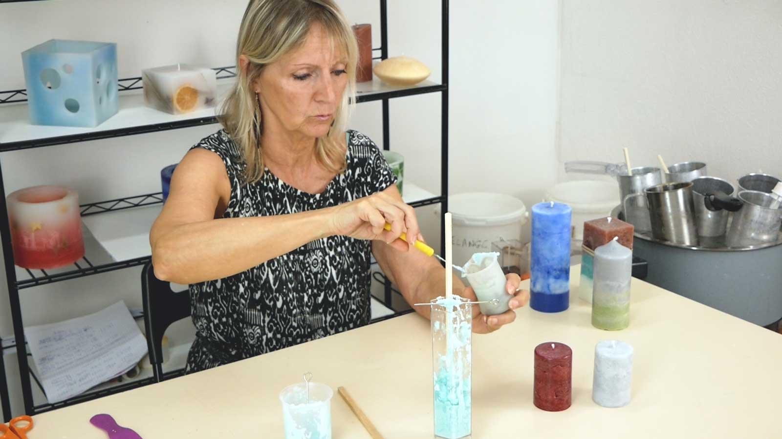 Fabriquer des bougies avec un effet marbré