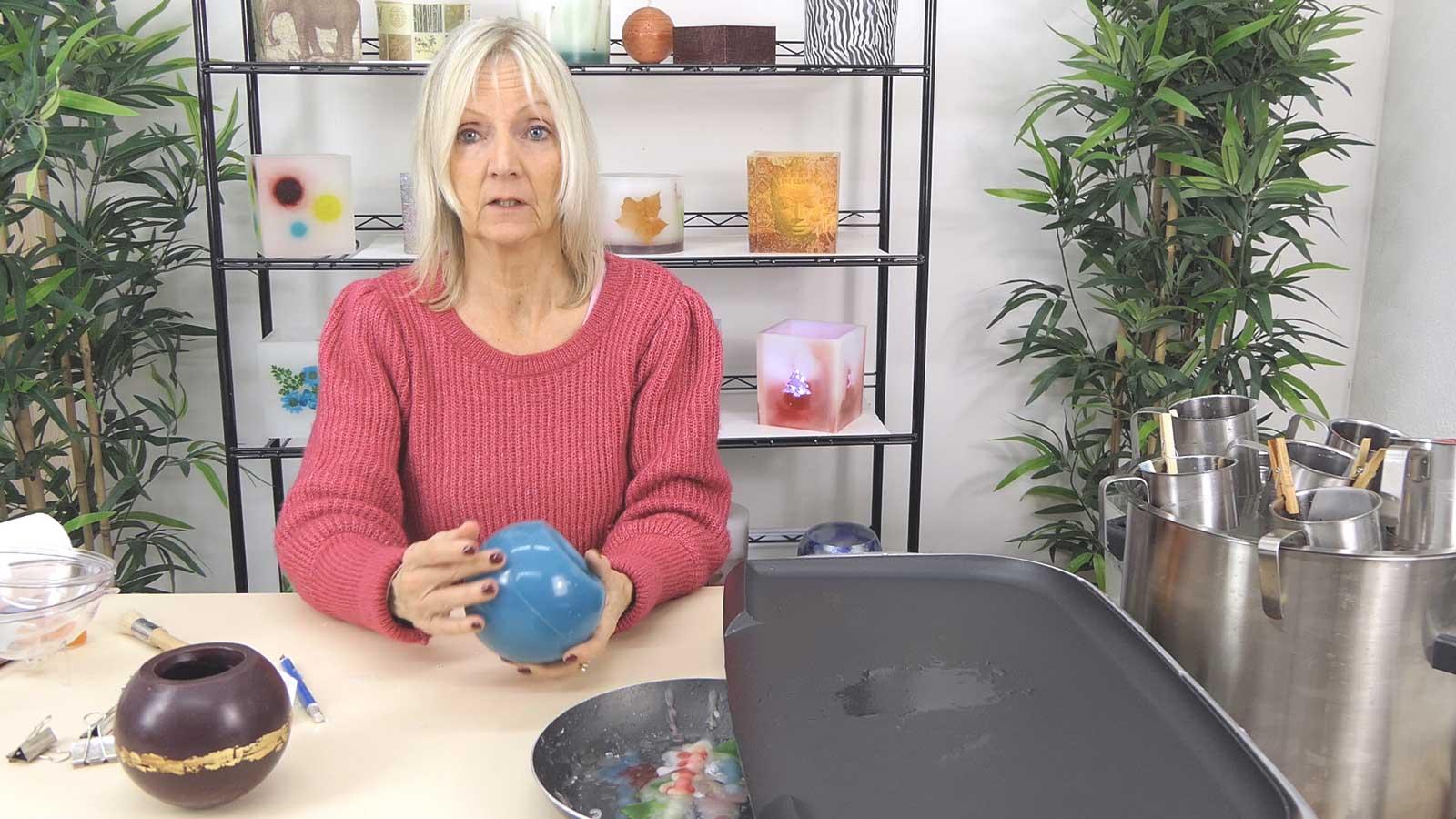 Photophore bicolore ajouré : une technique pour faire un dégradé de couleur