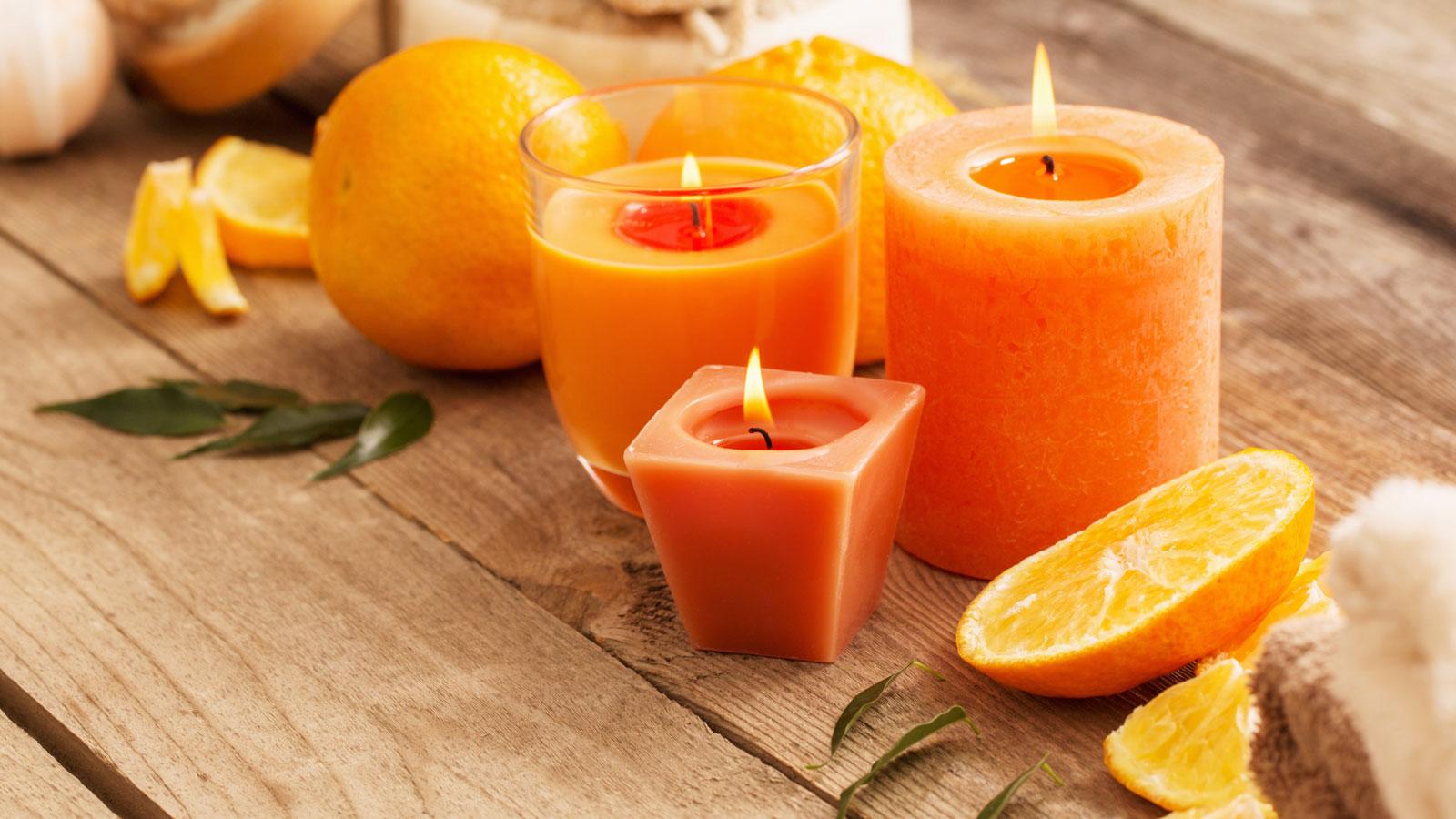 Parfums dans des bougies