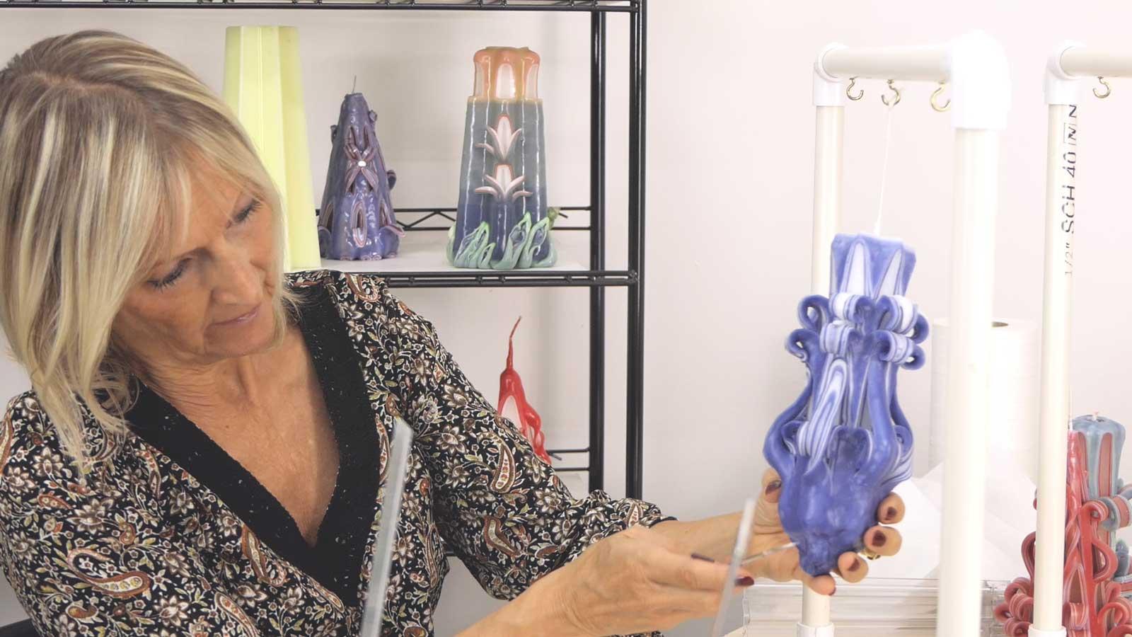 Sculpture avec la technique du crochet
