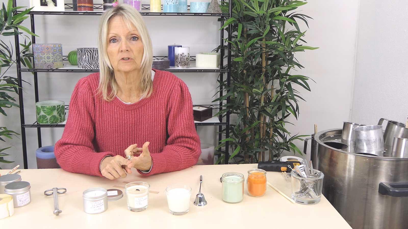 Bougies en contenants : vidéo de conclusion