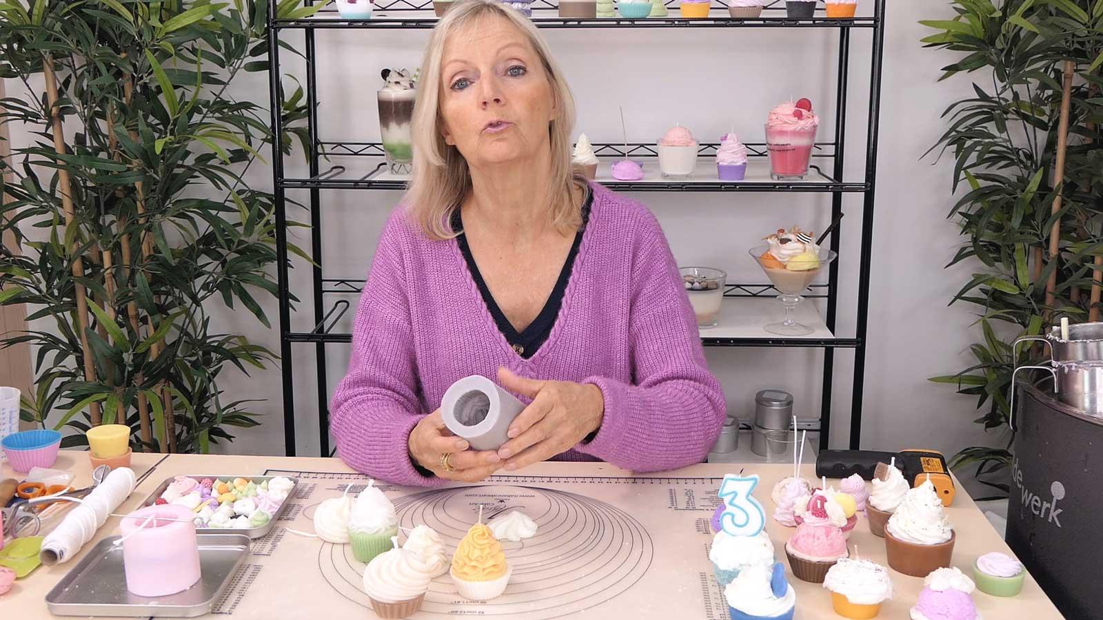 Réaliser facilement des bougies cupcakes