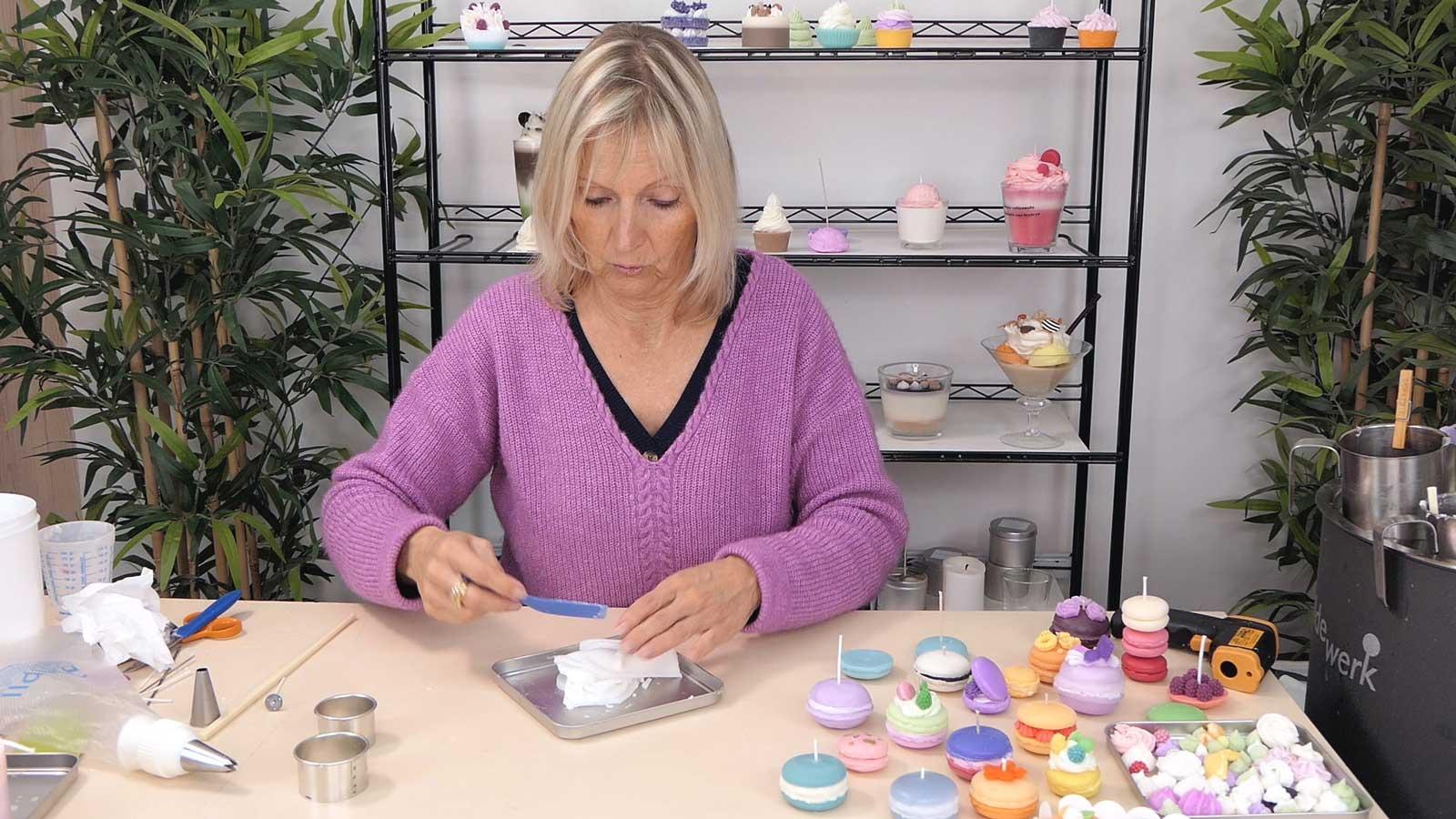 Bougies macarons : décoration